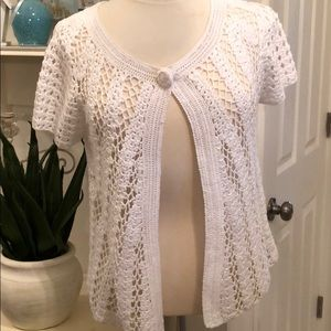 NWT WHITE HOUSE BLACK MARKET CROCHET JACKET